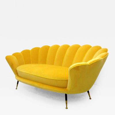 1950s Italian Cloud Two Seats Sofa