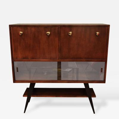 1950s Italian Dry Bar Cabinet