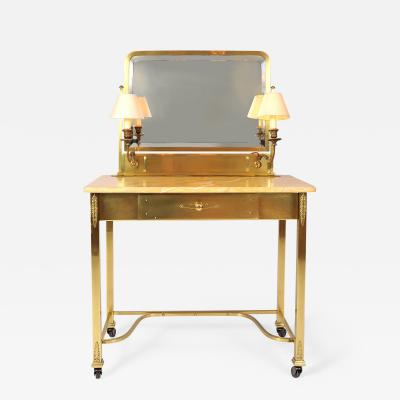1950s Italian Marble and Brass Dressing Table