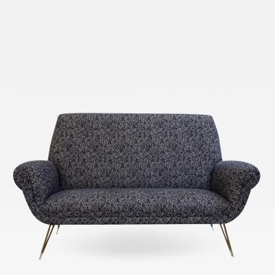 1950s Italian Sofa Two Seat Loveseat