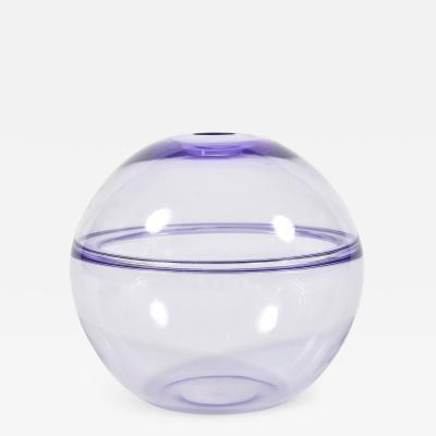 1950s Italian purple Murano globe vase