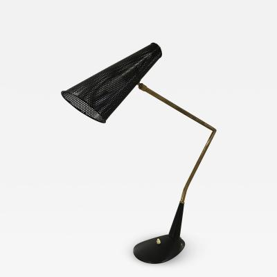 1950s Perforated Desk Lamp