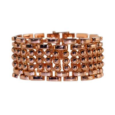 1950s Rose Gold Link Bracelet