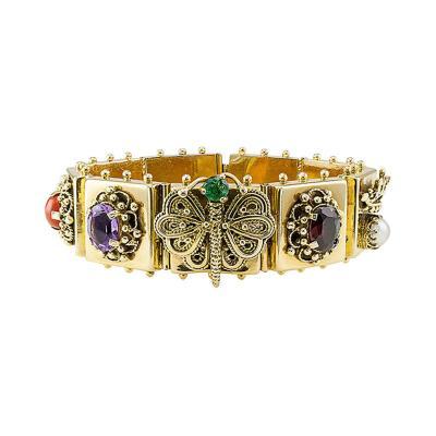 1950s Slide 14 Karat Gold Bracelet