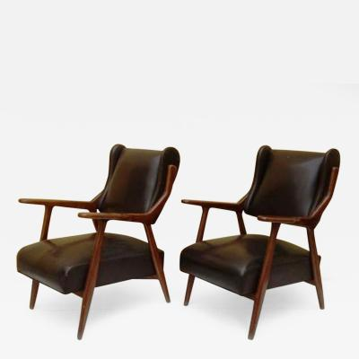 1950s Stunning Sculptural Armchairs in the style of Gio Ponti