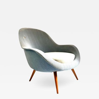 1950s Vintage Scandinavian Lounge Chair