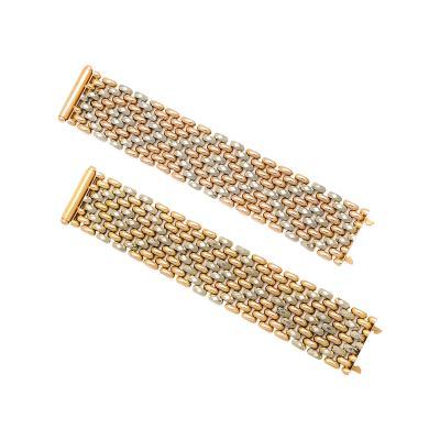 1950s Woven Gold bracelets