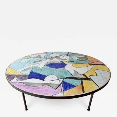 1950s bespoke Ceramic coffee Table