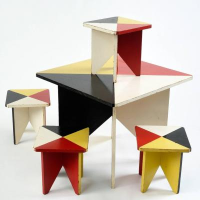 1952 European Childs Game Table