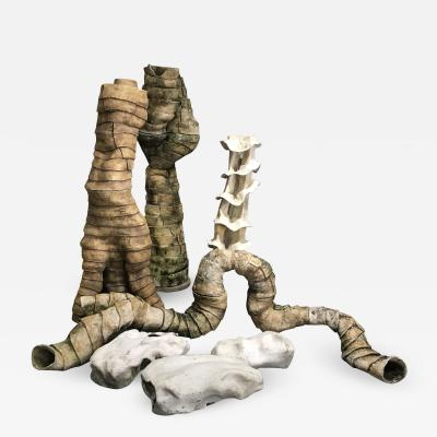 1960s Abstract Organic Terracotta Sculptures