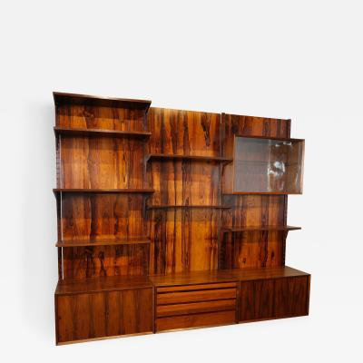 1960s Adjustable Brazilian Jacaranda Shelving Unit