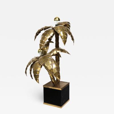 1960s Brass Palm Tree Floor Lamp