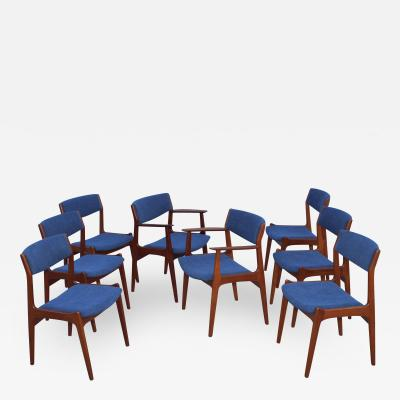1960s Danish Teak Dining Chairs Set Of 8