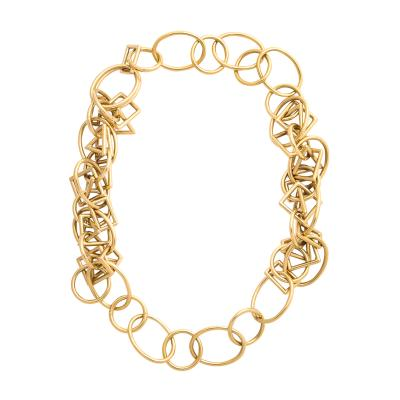 1960s Gold Chain Necklace and Bracelet
