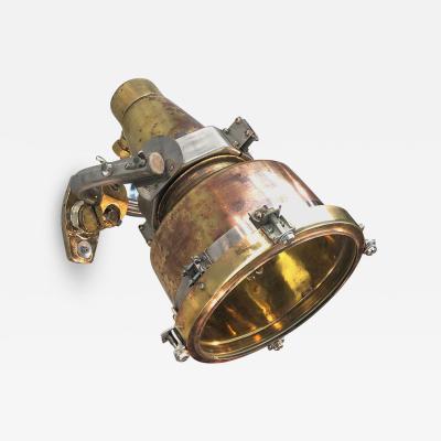 1960s Japanese Spun Brass Wall Light