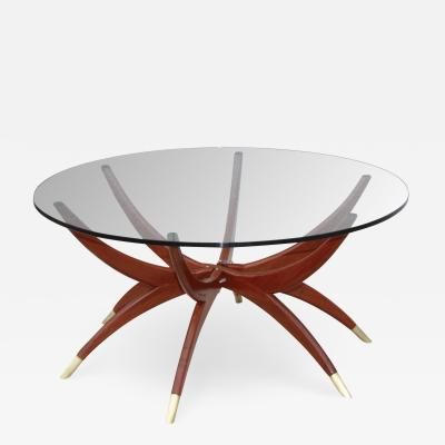 1960s Mid Century Modern Spider Base Coffee Table