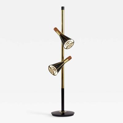 1960s Mid Century Modern Style Double Shade Floor Lamp