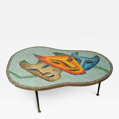 1960s Mosaic Topped Coffee Table
