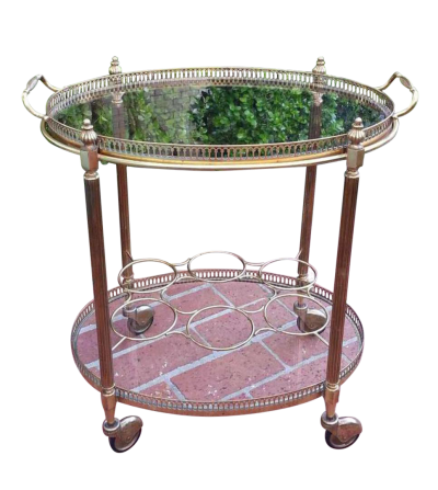1960s Oval Bar Cart