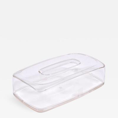 1960s US rectangular Lucite tissue box
