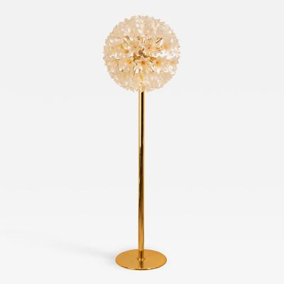 1960s Venini Murano flower floor lamp