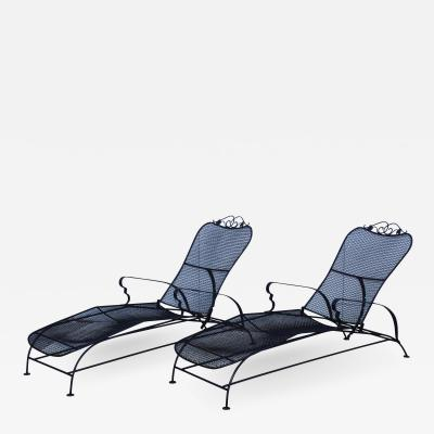 1960s Wire Mesh Outdoor Chaise Lounges
