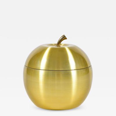 1960s brass apple ice bucket