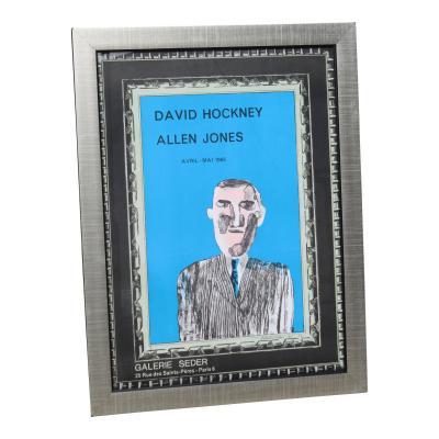 1966 Vintage David Hockney Galerie Sedar Exhibition Poster