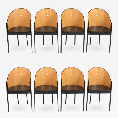 1970 s Set of Eight Barrel Dining Chairs