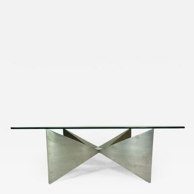 1970s Aluminum Coffee Table