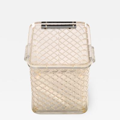 1970s American lucite ice bucket