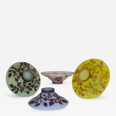 1970s Austrian P te de Verre Vintage Collection of Art Deco Style Platters