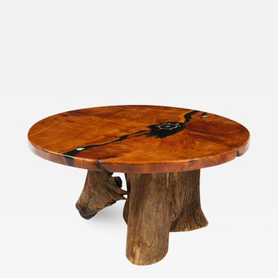 1970s California Craftman Inlaid Coffee Table