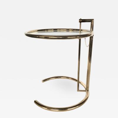 1970s Eileen Gray Modern Brass Side Table