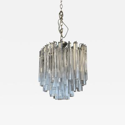 1970s Glass Chandelier