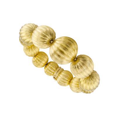 1970s Gold Bead Bracelet