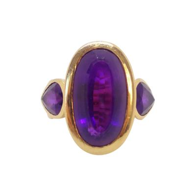 1970s Gold and Amethyst Ring