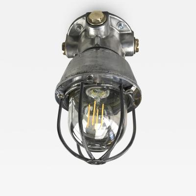 1970s Italian Explosion Proof Ceiling Cage Light