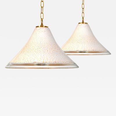 1970s Italian Tutti Frutti glass pendant lights