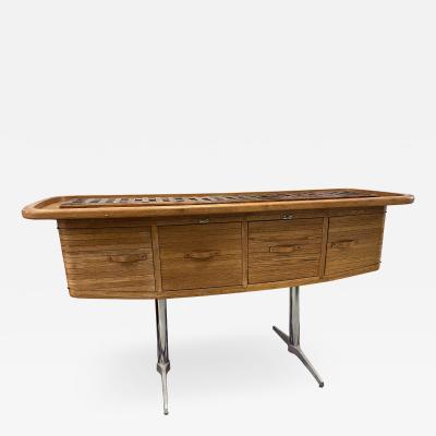 1970s Mid Century Modern Wood Bar
