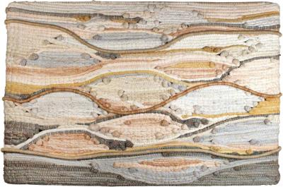 1970s Midcentury California Modernist Fiber Art Wall Textile