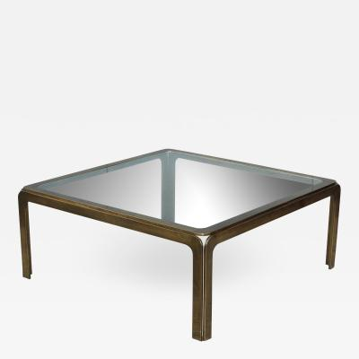 1970s Modern Patinated Brass Coffee Table From Spain