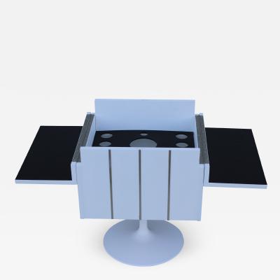 1970s Modern Swivel Bar Cabinet By Lane