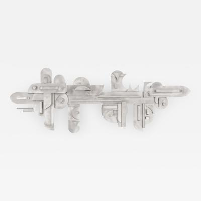 1970s Modernist Abstract Aluminum Wall Sculpture