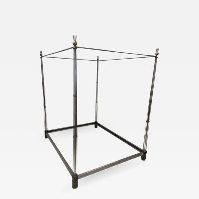 1970s Steel and Bronze Canopy Bed