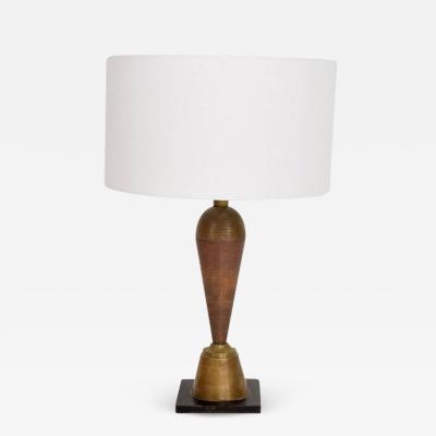 1970s Table Lamp in Brass and Copper from the Hotel Presidente Mexico City