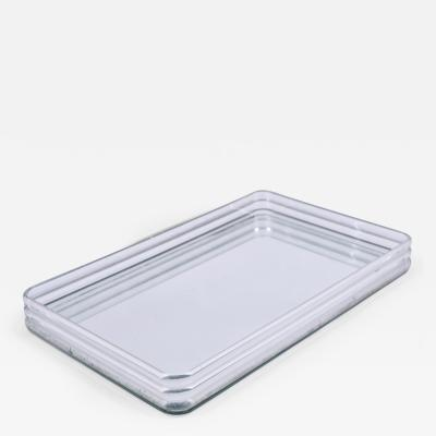 1970s US rectangular Lucite and mirror tray