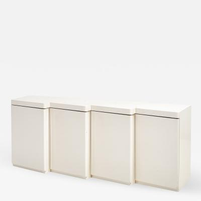 1980 White Lacquer Wave Front Sideboard