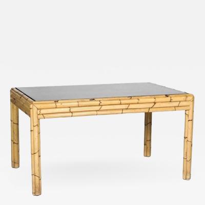 1980s Bambu Glass Dining Table