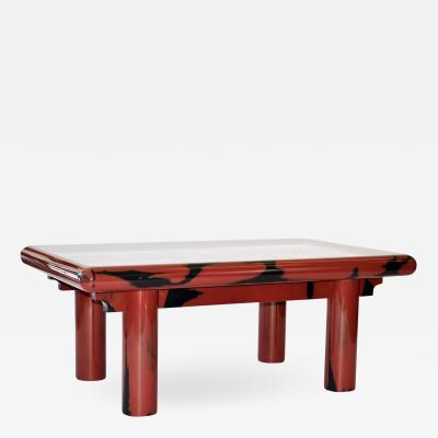 1980s Lacquered Coffee Table in the Style of Karl Springer